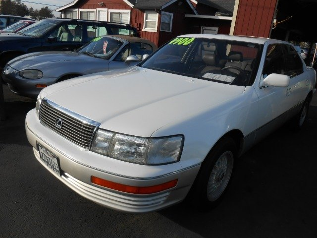 1991 LEXUS LS 400 white abs brakesair conditioningalloy wheelsanti-brake system 4-wheel absbo