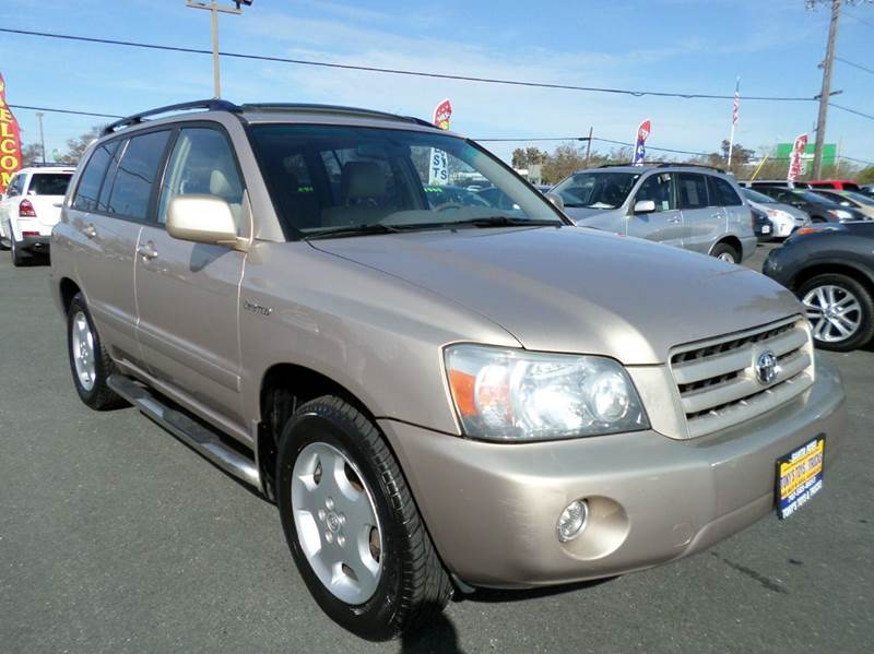 2004 TOYOTA HIGHLANDER LIMITED 4DR SUV W3RD ROW gold new tires limited 3rd row se