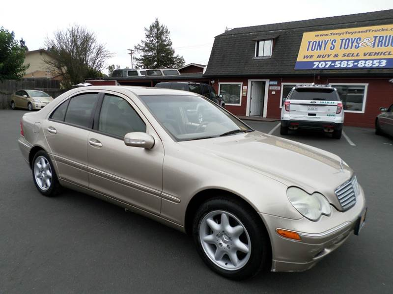 2001 MERCEDES-BENZ C-CLASS C240 4DR SEDAN gold one owner vehicle abs - 4-wheel anti-theft s
