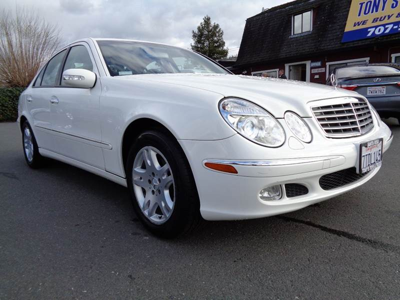 2003 MERCEDES-BENZ E-CLASS E 320 4DR SEDAN white clean e320 abs - 4-wheel anti-th