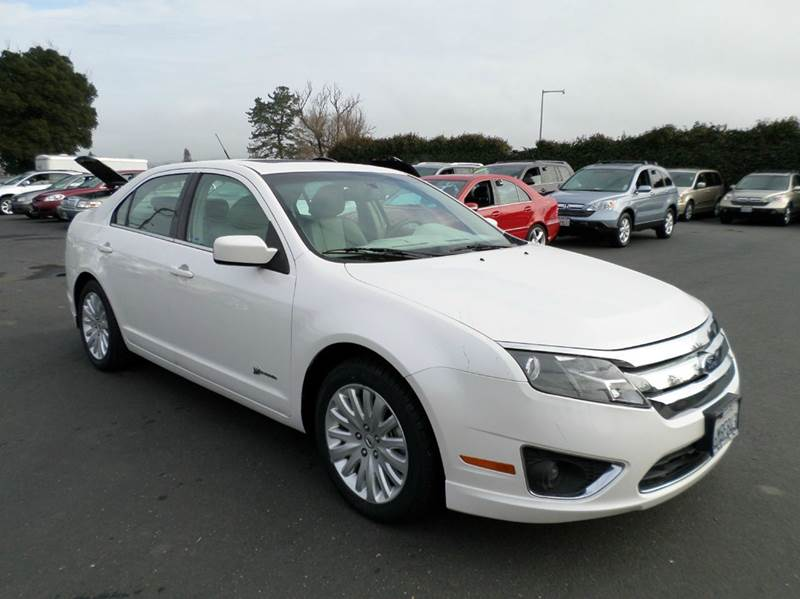 2010 FORD FUSION HYBRID BASE 4DR SEDAN white hybrid navigation leahter heated seats