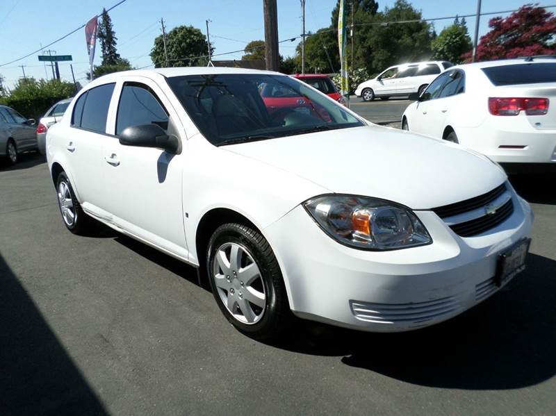 2008 CHEVROLET COBALT LS 4DR SEDAN white new tires no power windows or door locks air