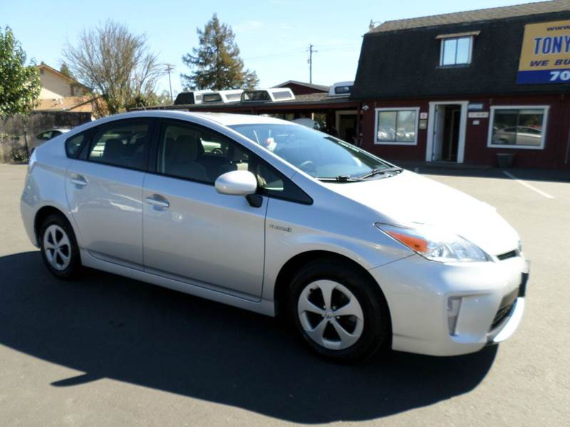 2012 TOYOTA PRIUS TWO 4DR HATCHBACK silver one owner vehicle 2-stage unlocking - remote abs