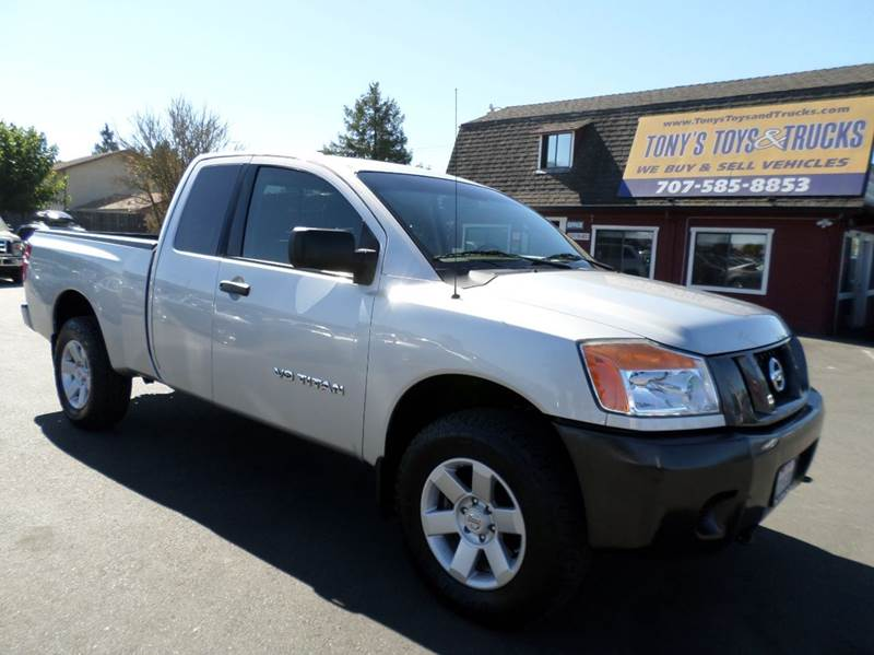 2008 NISSAN TITAN XE 4X4 4DR KING CAB SWB silver 4x4 truckonly 71210 miles 4wd selector