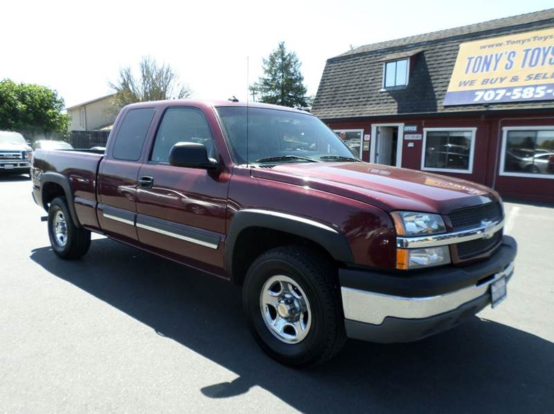 2003 CHEVROLET SILVERADO 1500 LS 4DR EXTENDED CAB 4WD SB burgundy one owner truck 4x4