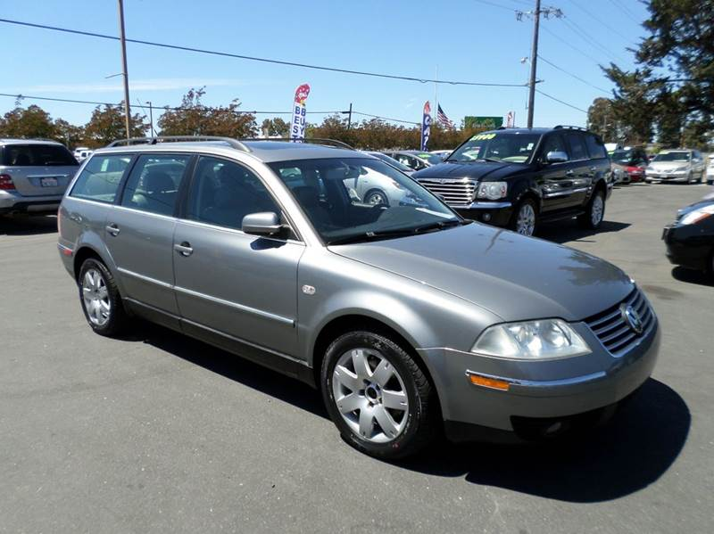 2003 VOLKSWAGEN PASSAT GLX 4MOTION AWD 4DR WAGON V6 gray new tires abs - 4-wheel anti-the