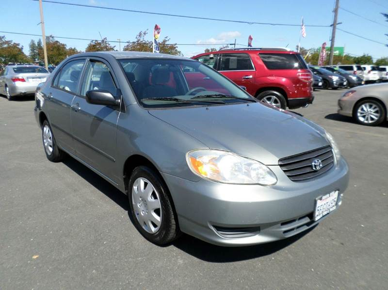 2004 TOYOTA COROLLA CE 4DR SEDAN gray one owner vehicle 4-speed automatic transmission c