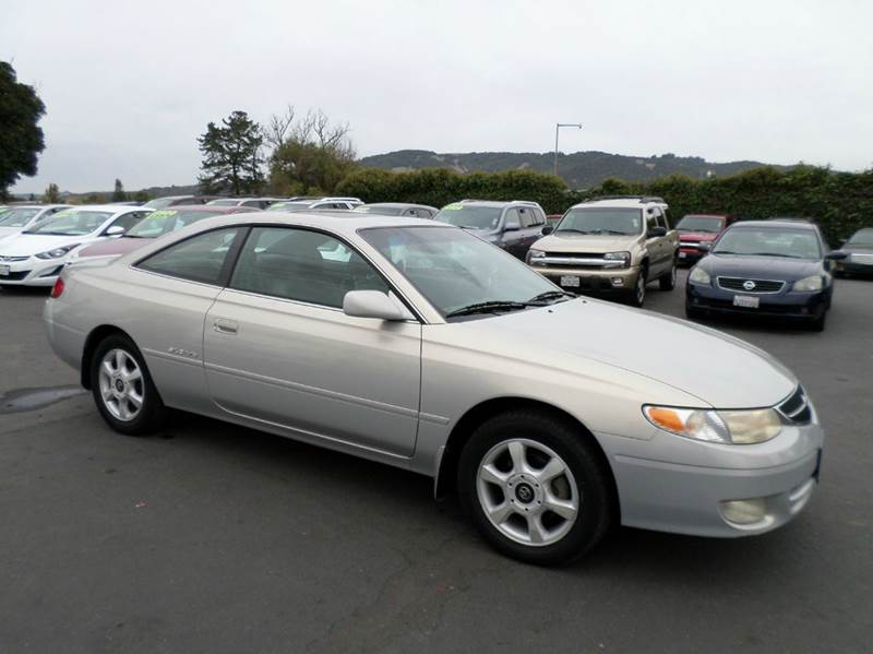 2000 TOYOTA CAMRY SOLARA SLE V6 2DR COUPE silver 1 owner low milage abs - 4-wheel anti-theft sys