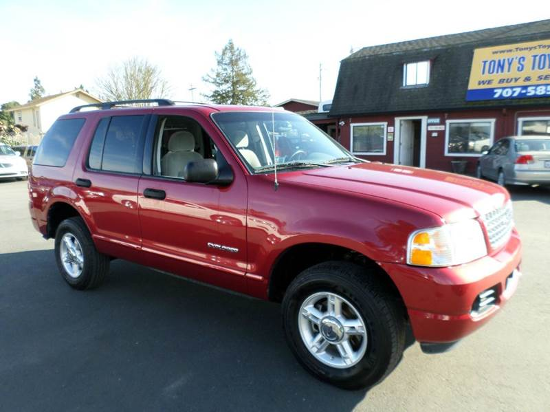 2004 FORD EXPLORER XLT 4DR 4WD SUV red abs - 4-wheel anti-theft system - alarm axle ratio - 35