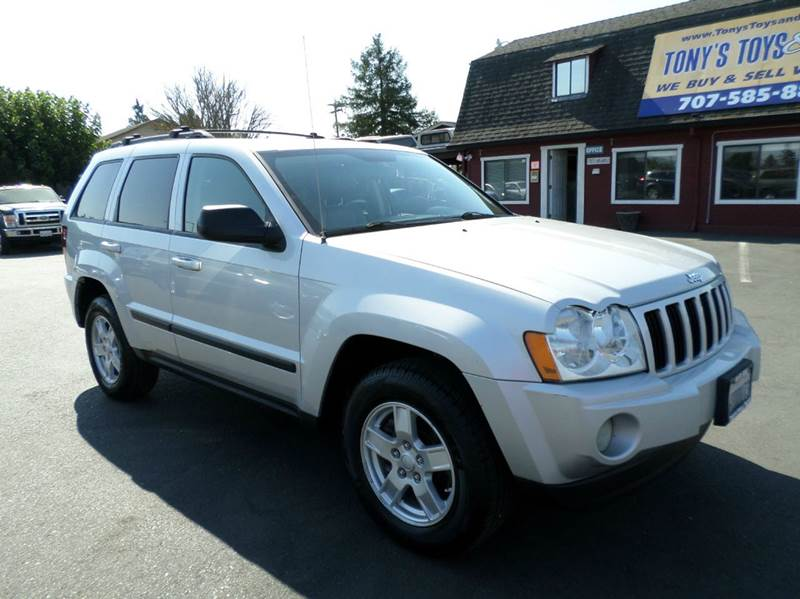 2007 JEEP GRAND CHEROKEE LAREDO 4DR SUV silver leather 2-stage unlocking doors abs - 4-w