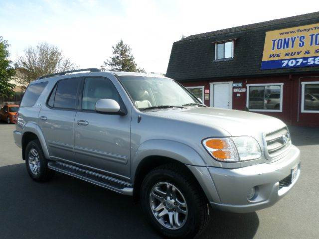 2004 TOYOTA SEQUOIA SR5 4WD 4DR SUV silver clean carfax 1 owner vehicle service at local de