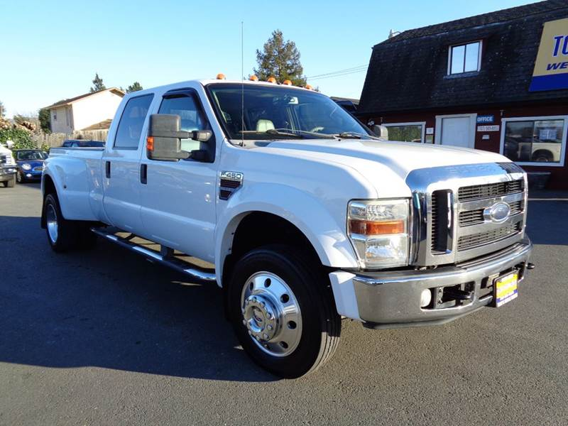 2008 FORD F-450 SUPER DUTY LARIAT 4DR CREW CAB LB DRW white 2-stage unlocking doors abs - 4-whee