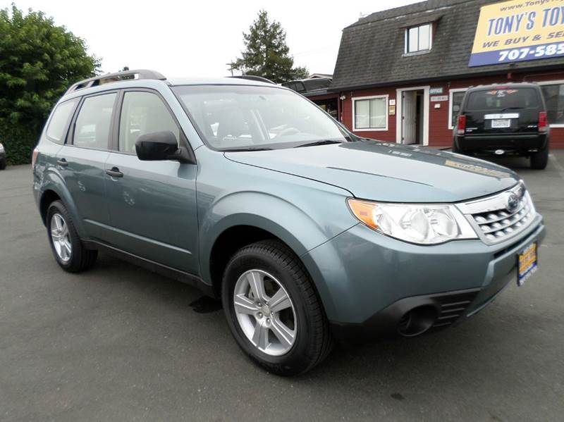 2012 SUBARU FORESTER 25X AWD 4DR WAGON 5M lt green one owner vehilcenew tires 2-stage