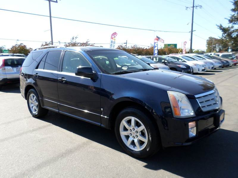 2007 CADILLAC SRX V6 4DR SUV blue new tires 3rd row seating 2-stage unlocking doors a