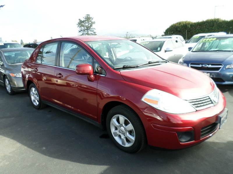 2008 NISSAN VERSA 18 SL 4DR SEDAN 4A red active head restraints - dual front air filtration ai