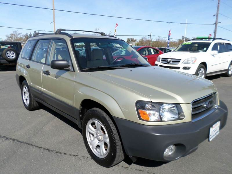 2004 SUBARU FORESTER X AWD 4DR WAGON lt green awd abs - 4-wheel anti-theft system - ala