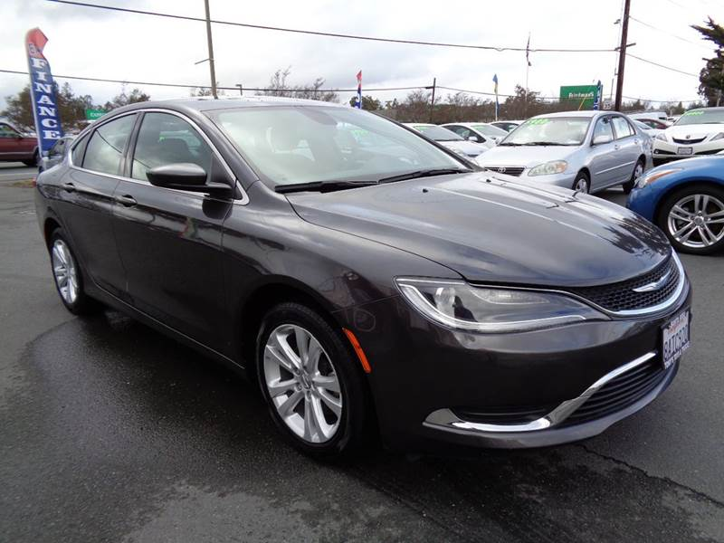 2015 CHRYSLER 200 LIMITED 4DR SEDAN gray abs - 4-wheel active grille shutters air filtration ai