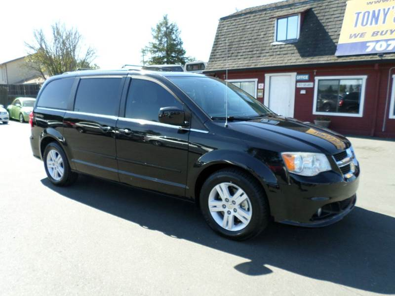 2012 DODGE GRAND CARAVAN CREW 4DR MINI VAN black stow-n-go seating new tires 2-stage un