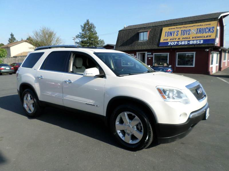 2008 GMC ACADIA SLT-2 4DR SUV white new tires 2-stage unlocking doors abs - 4-wheel