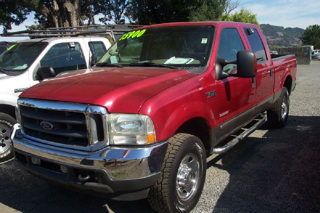 2003 FORD F-250 LARIAT CREW CAB 4WD red 4x4 off-road package air conditioning all wheel drive a