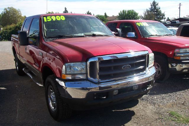 2003 FORD F-250 LARIAT CREW CAB 4WD red 4x4 off-road package air conditioning all wheel drive