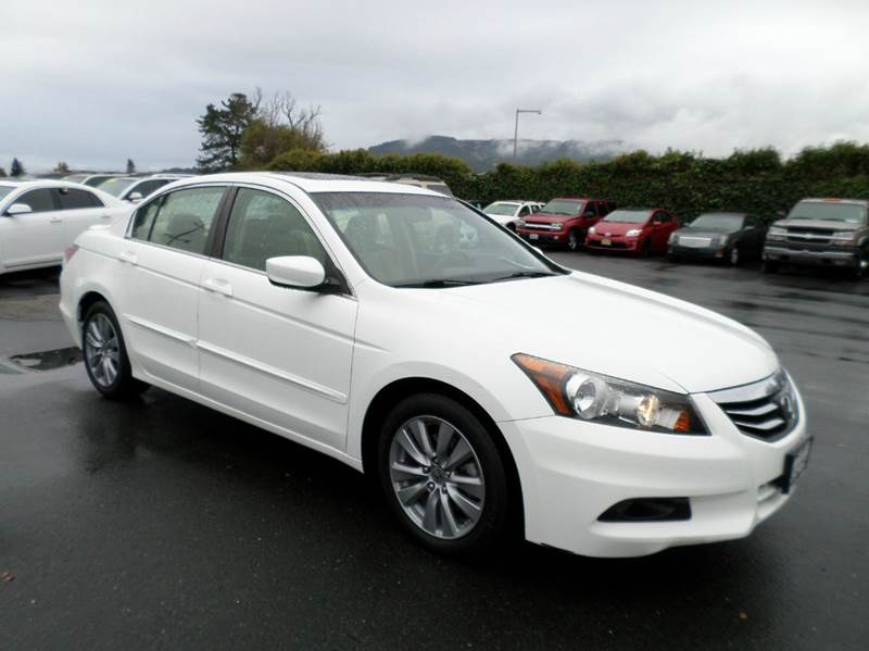 2012 HONDA ACCORD EX 4DR SEDAN 5A white 1 owner low miles abs - 4-wheel active head restraints -
