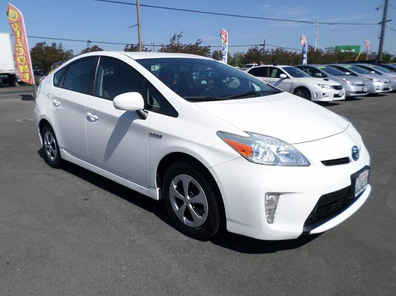 2012 TOYOTA PRIUS TWO 4DR HATCHBACK white one owner vehicle new tires 2-stage unlockin