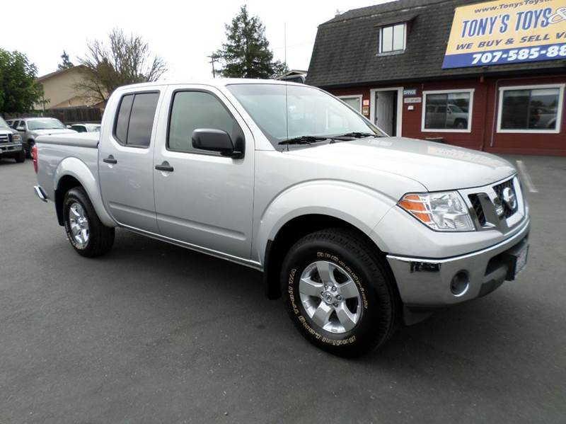2010 NISSAN FRONTIER SE V6 4X4 4DR CREW CAB SWB PICKU silver 1 owner 4wd selector - electronic hi