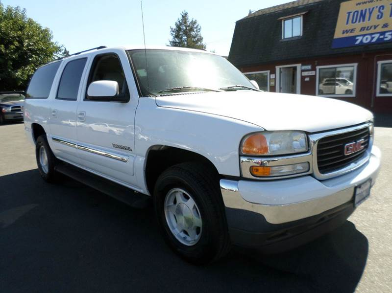 2005 GMC YUKON XL 1500 SLT 4DR SUV white slt leather 3rd row seating abs - 4-w