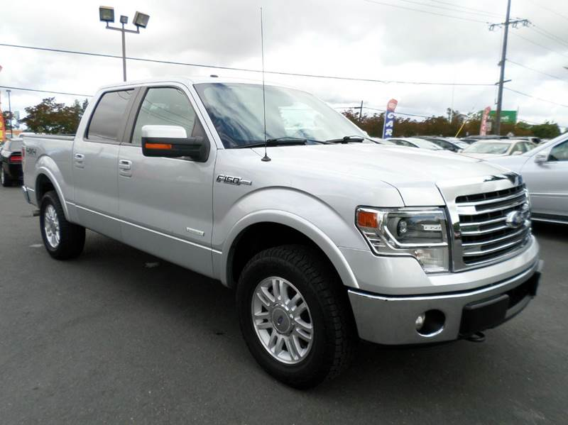 2013 FORD F-150 LARIAT 4X4 4DR SUPERCREW STYLESI silver lariat pckg navigationmoon