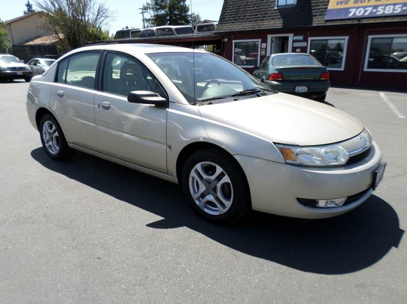 2004 SATURN ION 3 4DR SEDAN gold one owner vehicle new tires anti-theft system - alar