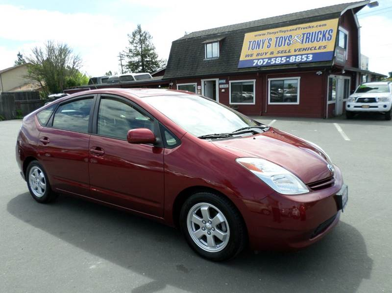 2005 TOYOTA PRIUS BASE 4DR HATCHBACK red one owner vehicle abs - 4-wheel center console - f
