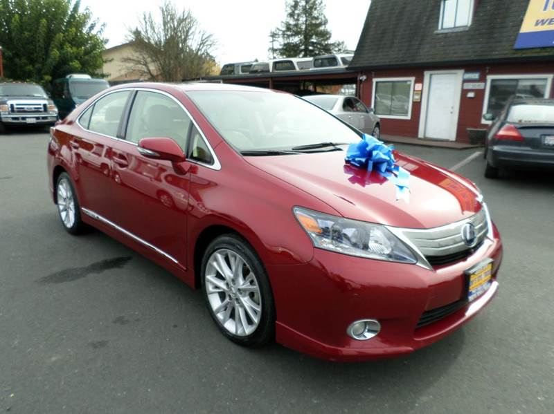 2010 LEXUS HS 250H PREMIUM 4DR SEDAN burgandy one owner vehicle low mileage hybrid 2-stage unl