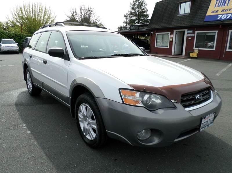 2005 SUBARU OUTBACK 25I AWD 4DR WAGON white 5sp manual transission  abs - 4-wheel anti-the