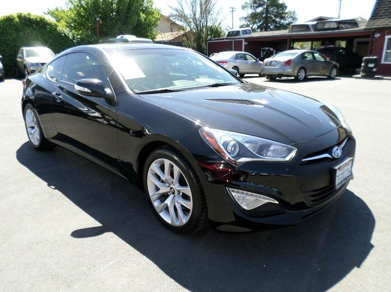 2013 HYUNDAI GENESIS COUPE 38 GRAND TOURING 2DR COUPE black one owner leather navi