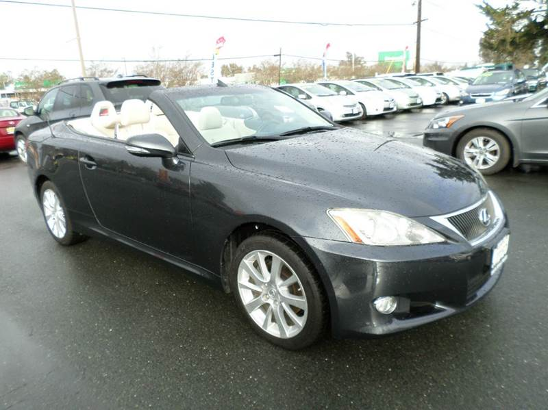 2010 LEXUS IS 250C BASE 2DR CONVERTIBLE 6A gray is 250 convertible abs - 4-wheel air filt