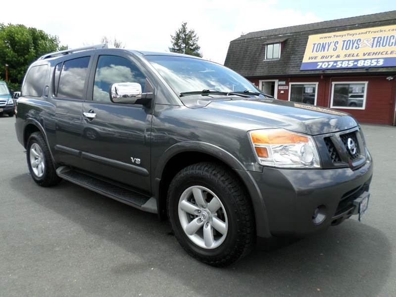 2008 NISSAN ARMADA SE 4X2 4DR SUV gray 3rd row seating abs - 4-wheel active head restrain