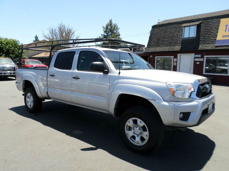 2012 TOYOTA TACOMA V6 4X4 4DR DOUBLE CAB 61 FT LB silver 4x4 tacoma 16 in alloy wheels