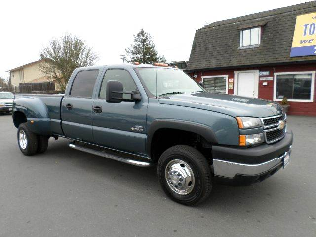 2006 CHEVROLET SILVERADO 3500 LT 4DR CREW CAB 4WD LB DRW teal green 1 owner clean carfax supe
