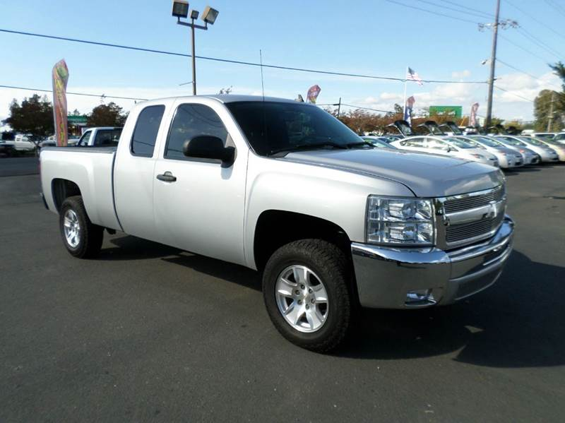 2013 CHEVROLET SILVERADO 1500 LT 4X4 4DR EXTENDED CAB 65 FT silver 4wd selector - electronic hi