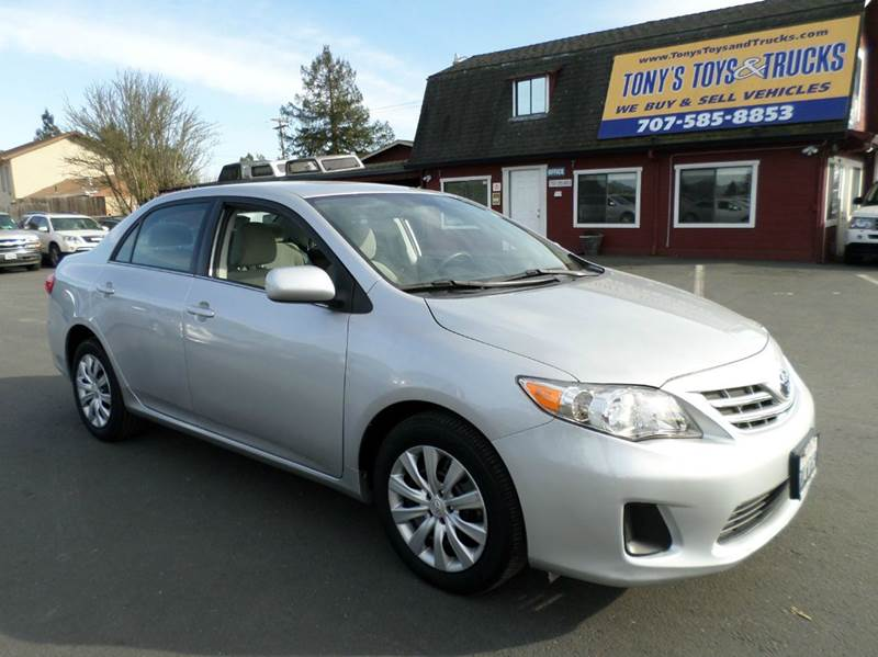 2013 TOYOTA COROLLA LE 4DR SEDAN 4A silver one owner abs - 4-wheel active head restraints - dual