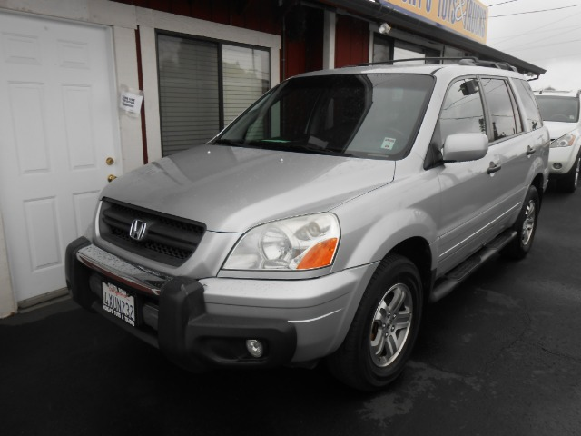 2003 HONDA PILOT EX W LEATHER AND DVD silver 17 city 22 hwy  4wdawdabs brakesair conditioning