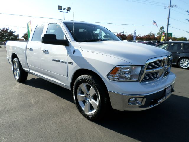 2012 RAM RAM PICKUP 1500 BIG HORN 4X4 4DR QUAD CAB 63 FT white 2-stage unlocking - remote 4wd ty