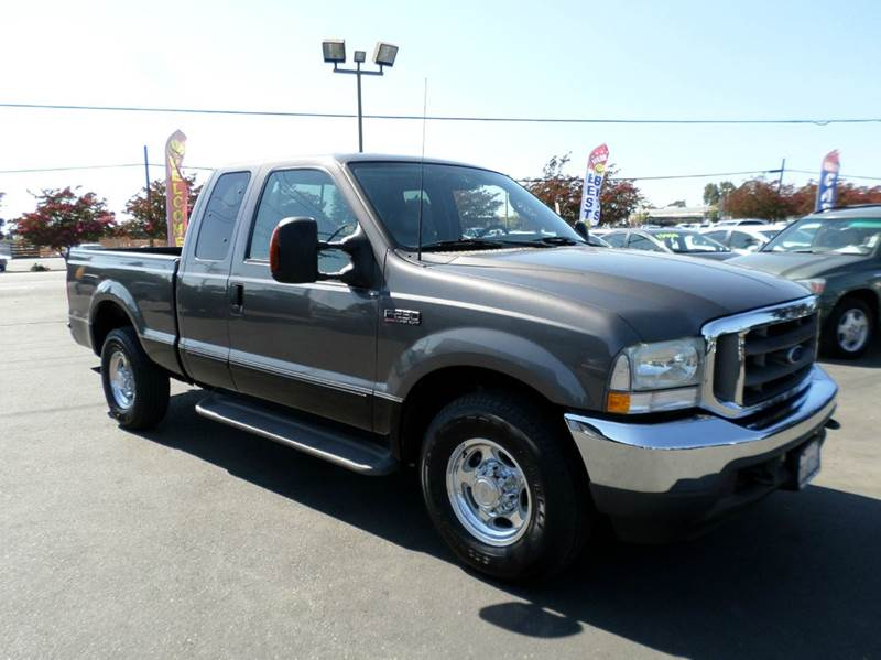 2003 FORD F-250 SUPER DUTY LARIAT 4DR SUPERCAB RWD SB gray low miles abs - 4-wheel anti-theft sy