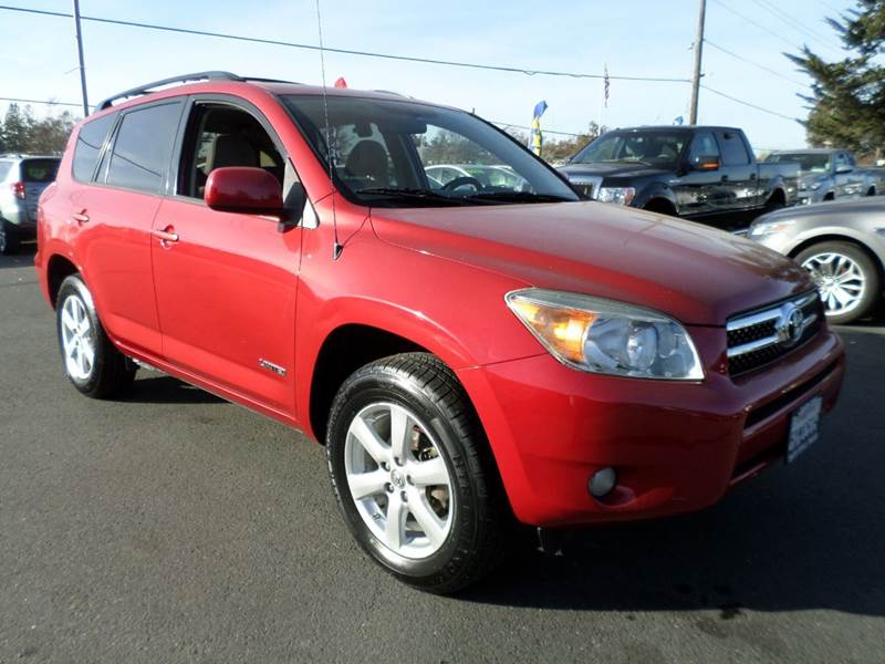 2007 TOYOTA RAV4 LIMITED 4DR SUV I4 red new tires 2-stage unlocking doors abs - 4-wheel a