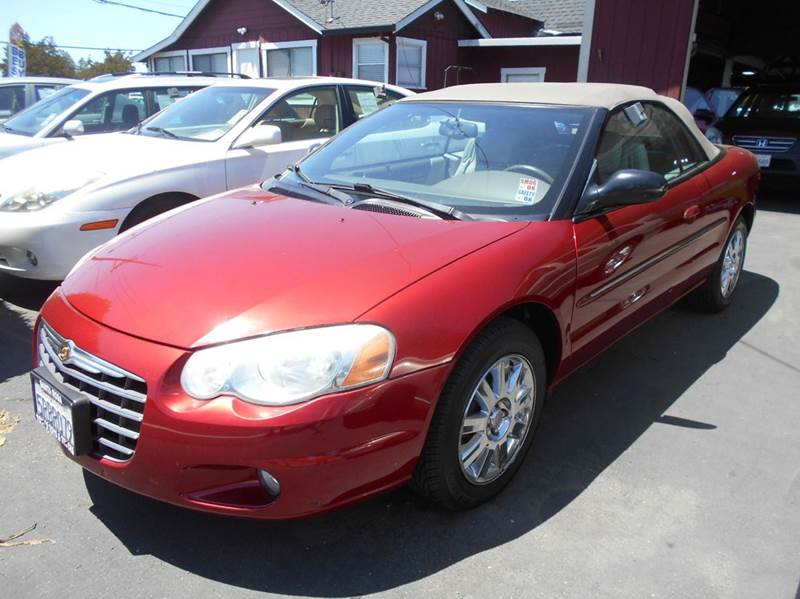 2004 CHRYSLER SEBRING LIMITED 2DR CONVERTIBLE red limited convonly 96602 miles abs