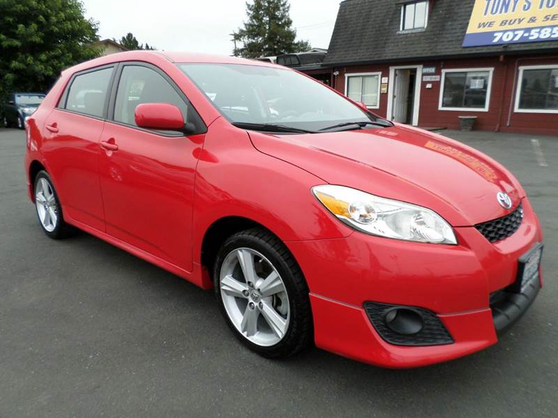 2009 TOYOTA MATRIX S 4DR WAGON 5A red one owner vehicle abs - 4-wheel active head restra
