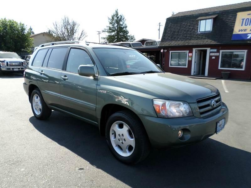 2006 TOYOTA HIGHLANDER LIMITED AWD 4DR SUV W3RD ROW lt green 3rd row seatingawd litmited