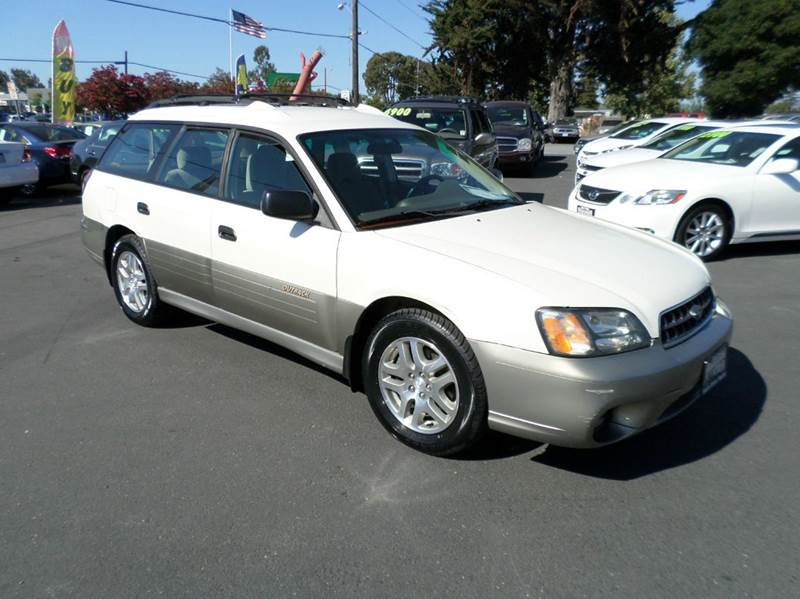 2003 SUBARU OUTBACK BASE AWD 4DR WAGON white awd automatic abs - 4-wheel center console