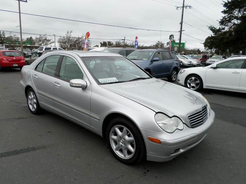 2003 MERCEDES-BENZ C-CLASS C240 4MATIC AWD 4DR SEDAN silver low mileage only 77816new ti